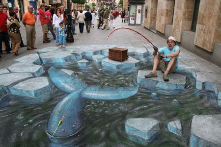 Peintures de rue de julian beever 3d drawing website