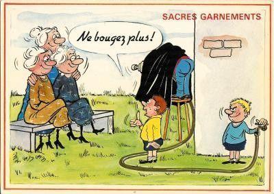 Cartes anciennes humour - Grand mere en chaleur ...