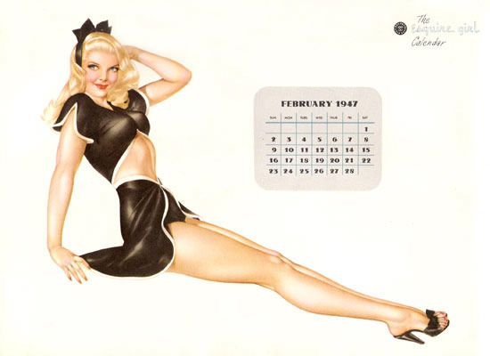 Calendrier PIN UP d'Alberto Vargas 1947