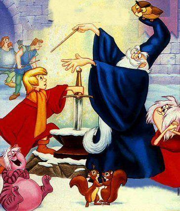 Dessin anime walt disney merlin l enchanteur - Dessin anime chevalier de la table ronde ...